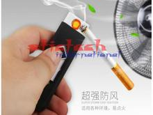 by dhl or ems 50pcs Windproof Rechargeable Cigarette Lighter Flameless Cigarette No Gas e-Lighter USB Lighter white black