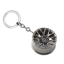 New 2017 Fast And Furious 8 Key Chains High Quality Metal 3D Car Hub Keychain Bag Pendant Jewelry Cool Wheel Rim Keyring Holder(China)