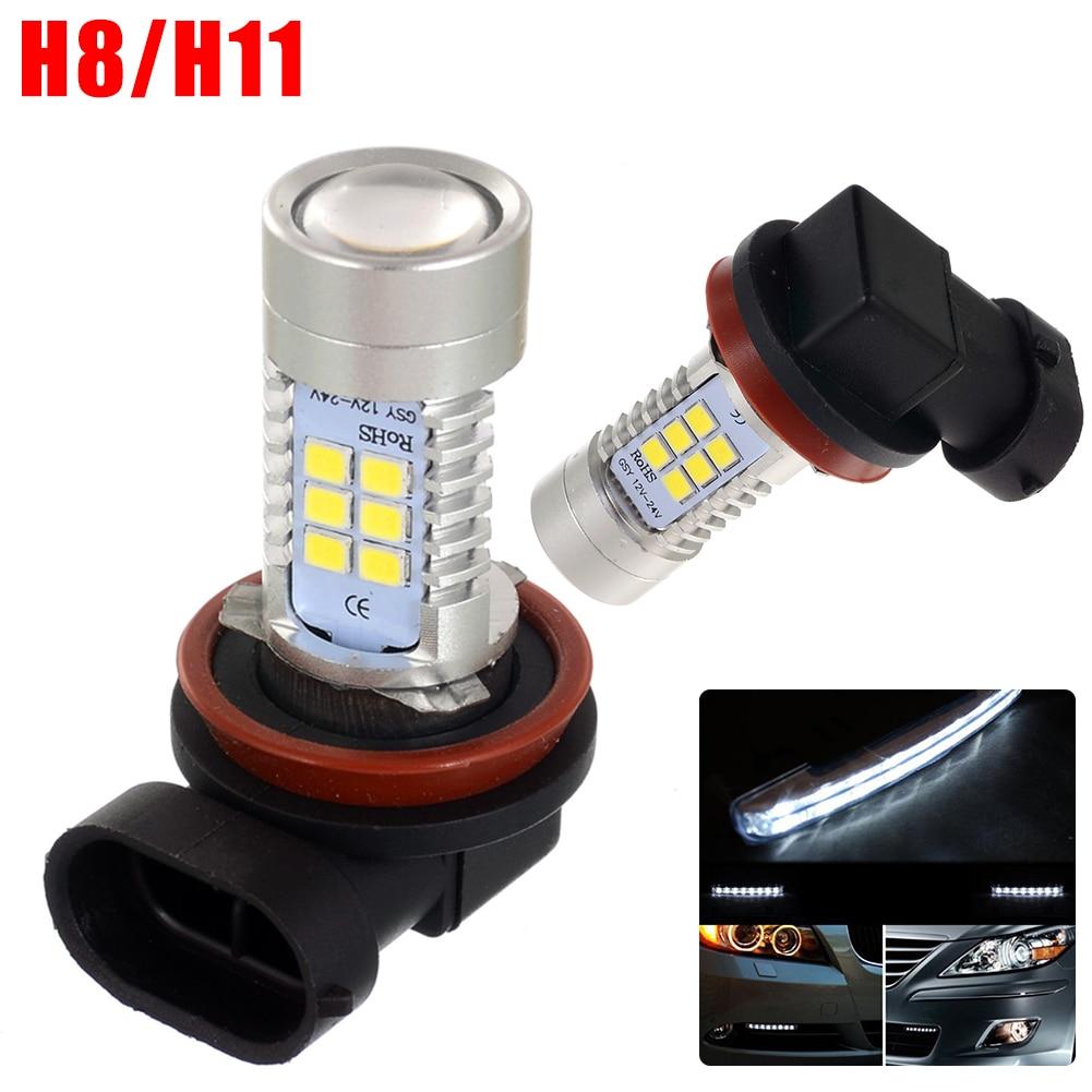 2/4/8 Pcs/Lot 800LM Durable Foglight 12V H8 H11 Car LED Lights Luminous Pickup Truck Lamp 2.23x0.73 2835SMD<br><br>Aliexpress