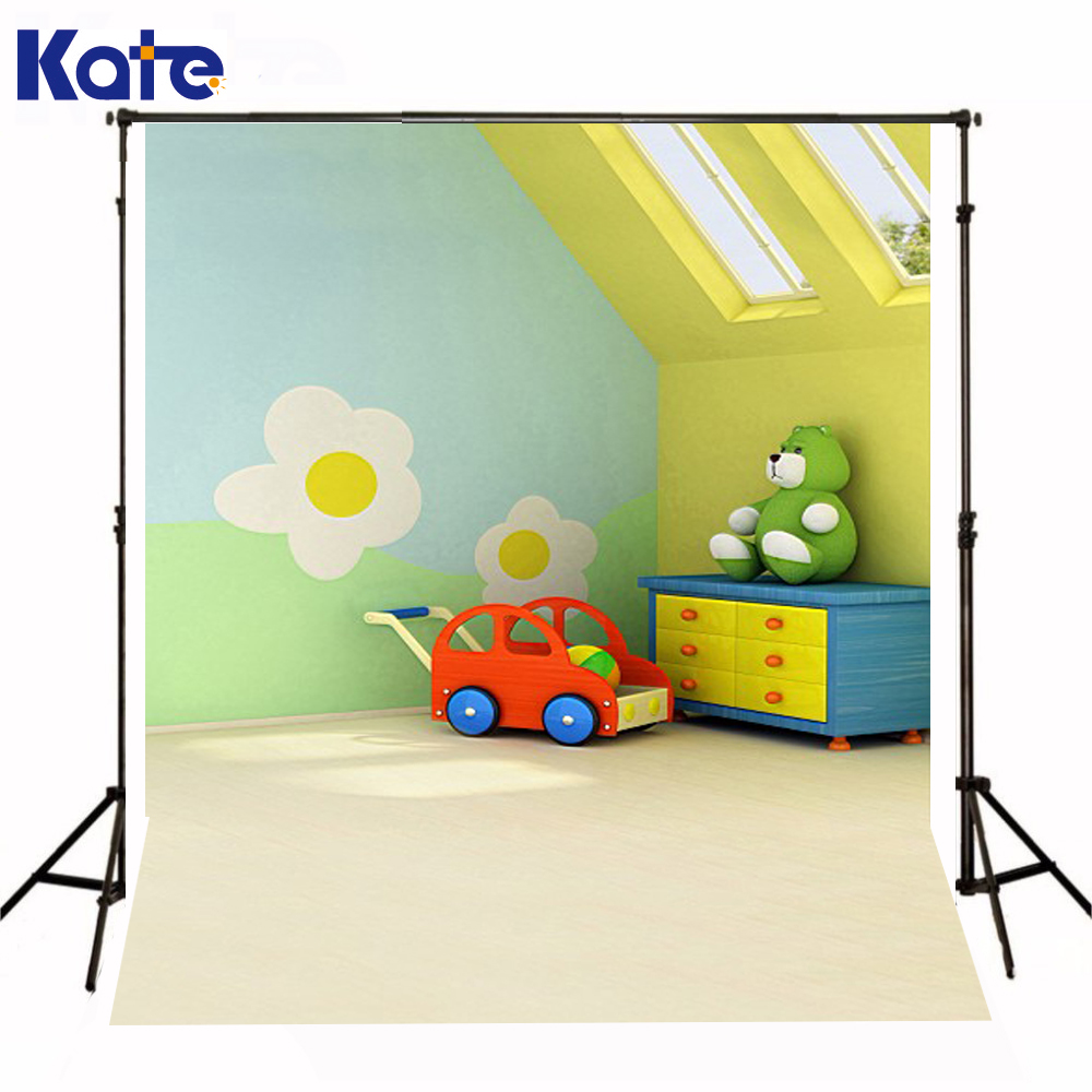 200Cm*150Cm Backgrounds ChildrenS Room Wall Car Toy Bear Photography Backdrops Photo Lk 1236<br>