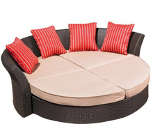 2017 poly rattan garden furniture wicker outdoor daybed(China)