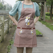 Hot Sales Women's Bib Comfy Cooking Chef Cute Rabbit Pocket Kitchen Restaurant Princess Apron