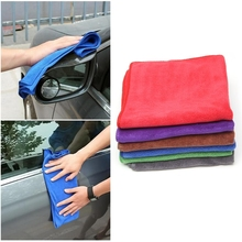 Microfiber Car Detailing Towel Ultra Soft Edgeless Towel Car Washing Cloths 40x40cm Automobiles Maintenance(China)