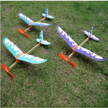 Free Shipping Rubber Band Airplane Paper Model Boy's Toys Learning Machine Science Toys plane Educational toys