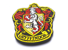 Custom Embroidered Patch Gryffindor Harry Potter hogwarts slytherin morale military hook patches tactical for coat jacket(China)