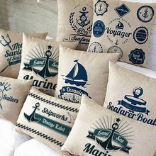 2015 Mediterranean-style fashion sofa cushions ,  sailors paragraph story office lumbar pillow bed pillows ,  free shipping!