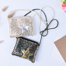 1PCS Girl Coin Purse Children's Wallet Small Change Purse Kid Bag Coin Pouch Money Holder Kawaii Sequined Star Baby Handbag(China)