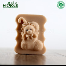 Nicole R0484 Christmas Silicone Soap Molds,Custom Handmade Soap Molds,Molds For Making Soap(China)