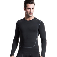 Men's Compression Tops Under Base Layer PRO Tight Long Sleeve Shirts Fitness Men Wear T-shirt bodybuilding brand Jersey(China)