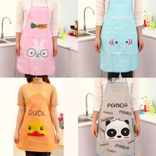 1PC Apron Cute Cartoon Women Waterproof Cartoon Kitchen Cooking Bib Apron Kitchen Cooking(China)