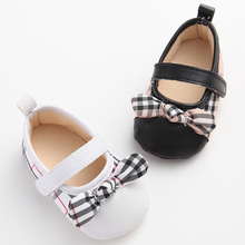 Baby Girl First Walker Shoes Newborn Toddler Girl Bowknot Bow Soft Sole Shoes Sapatos Infantil Girl Baby Mary Jane Shoes(China)