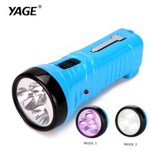 YAGE 3704 Blue Compact Portable Purple Flashlight 4 LED Lamp UV Flashlight Violet Light and White Light EU/USA/UK Charger