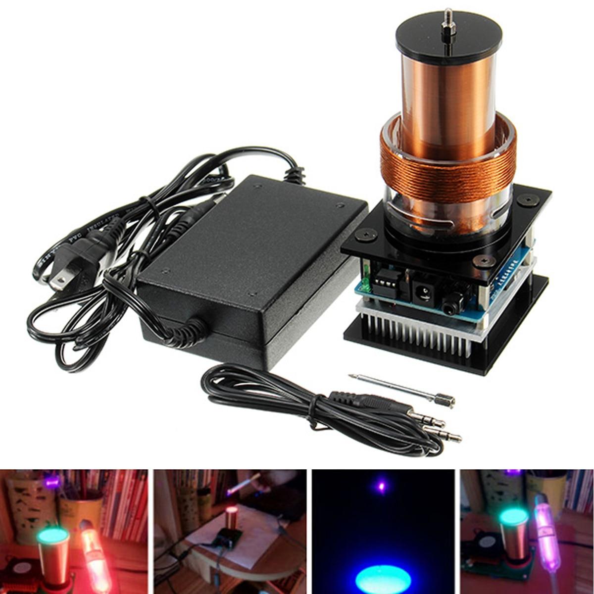 DC24V 1800mA Mini Tesla Coil Music Audio Sound Plasma Speaker Loud and Clear Sound US Plug