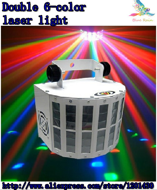 Double 6-color laser light LED lamp KTV room lamp stage lighting, beam lights DJ equipment DMX512 controller<br><br>Aliexpress