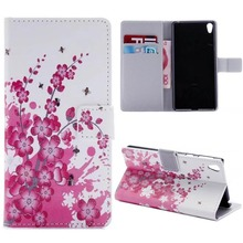 Flower PU Leather Wallet Cover Case For Sony Xperia XA1 XZ Premium XR XZs XZ s Xperia X Performance E5 mobile phone bag