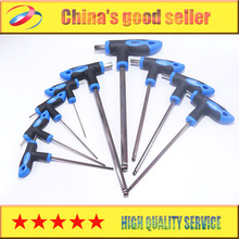 9size ALLTRADE T-Handle Hex Key Allen Wrench Set Metric 1.5/2/2.5/3/4/5/6/8/10 Ball head Free shipping