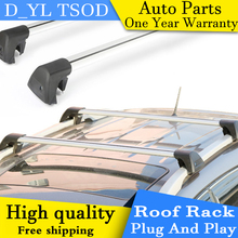 D_YL car styling for Hyundai ix35 panoramic sunroof Edition wing aluminum roof rails roof rack rod mute(China)