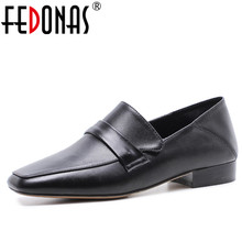 FEDONAS Retro Women Genuine Leather Flats Shoes New Two Ways Casual Shoes Soft Leather Comfortable Loafer Flats Shoes Woman(China)