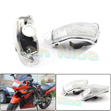 For KAWASAKI ZZR 400 600 ZX600E 1994-2004 Motorcycle Front Turn signal Blinker Lens White
