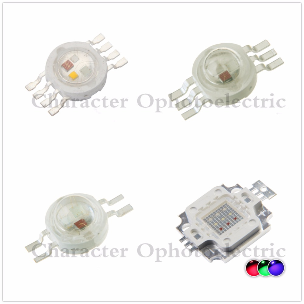 Lots 50 pcs 12W RGBW high power led bead Lamp light red green blue white 4 chip