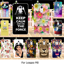 Painted TPU Silicone Phone Cover Cases For Leagoo M8 Leagoo M8 Pro 5.7 Inch Cellphone Animal Case shell Skin Housing Hood Covers