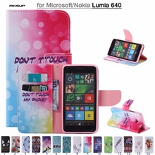 Coque Cover For Nokia Microsoft Lumia 640 Flip Case Painting Wallet PU Leather Phone Housing Shell Cases for Nokia 640 Skin Bags(China)