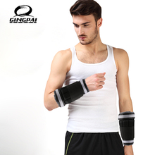 2 KG = 1Pair Adjustable Ankle Leg Weights Straps Strength Training Exercise Gym Running Fitness Equipment(China)