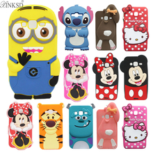 For Samsung Galaxy J3 2016 Case J320 J320F Minion Stitch Minnie Mickey Hello Kitty Soft Silicone Phone Case For Samsung J3 Cover