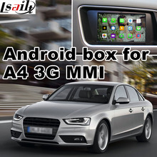 Android GPS navigation box for Audi A4 3G MMI 7 inches video interface box mirror link youtube rear view(China)