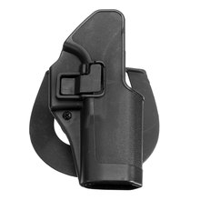 Hot Sale Black Outdoor Tactical gun Holster Military Airsoft Hunting Belt Holster Right Hand Pistol Holster Case For Glock 17