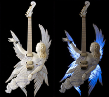 ESP Angel guitar Hand made guitar Carved body electric guitar angel design body white color Custom electric guitar