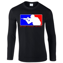 Major League Infidel Military USMC Marines Special Ops Black T-Shirt Mens long sleeve casual t shirt O Neck Brand Clothing(China)