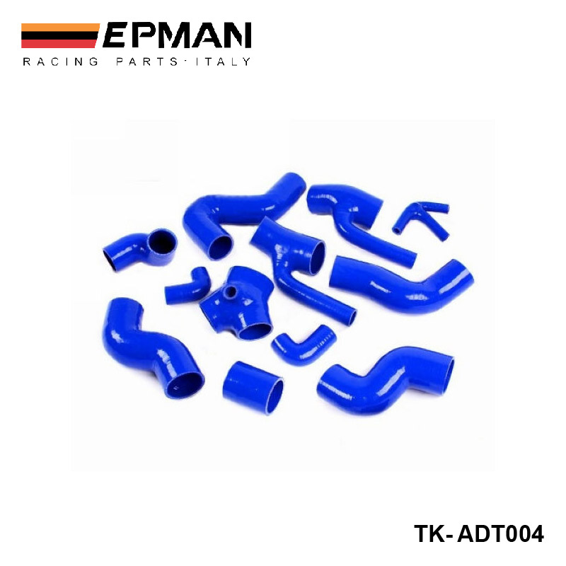 EPMAN-Silicone Intercooler Turbo Boost Hose For Audi All S4 / A6 2.7L Bi-Turbo kit 98-03 (12pcs) TK-ADT004<br><br>Aliexpress