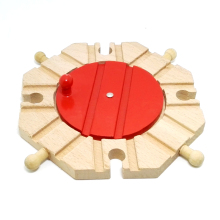 p014 Wooden 360* steering station track compatible with Thomas wooden track scene suitable wooden rail cars and electric Thomas