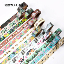 7m*15mm DIY Vintage Retro Decorative Masking Washi Tape Flower Adhesive Tape For Decoration Diary Free Shipping 3629