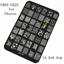 Buy 1 piece 14.5x9.5cm Hot Stamping Metal Steel Nail Art Stencils Stamping Template Printing Image Plates Palette DIY Tool SANAO40 for $1.82 in AliExpress store