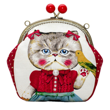 2016 New Fashion Messenger Bags With A Cute Cat Printing High Quality PU Leather Women's Purse And Handbags Nice Women Bag(China)
