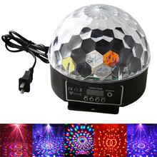 LED Stage Lamps 20W DMX512 Disco Stage Lighting Digital LED RGB Crystal Magic Ball Effect Light