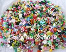 Assorted mixed children buttons plastic combined style 150pcs random shank sewing button for craft scrapbooking accessories(China)