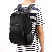 Travel Backpacks Zipper Soild Nylon Back Pack Daily Traveling Women men Shoulder Bags Folding Bag