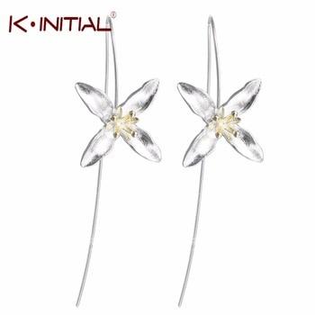 1pair  New Shining Flower Drop Earrings for Women Summer Fashion Hypoallergenic Jewelry Accessories Flowers Ear Earrings