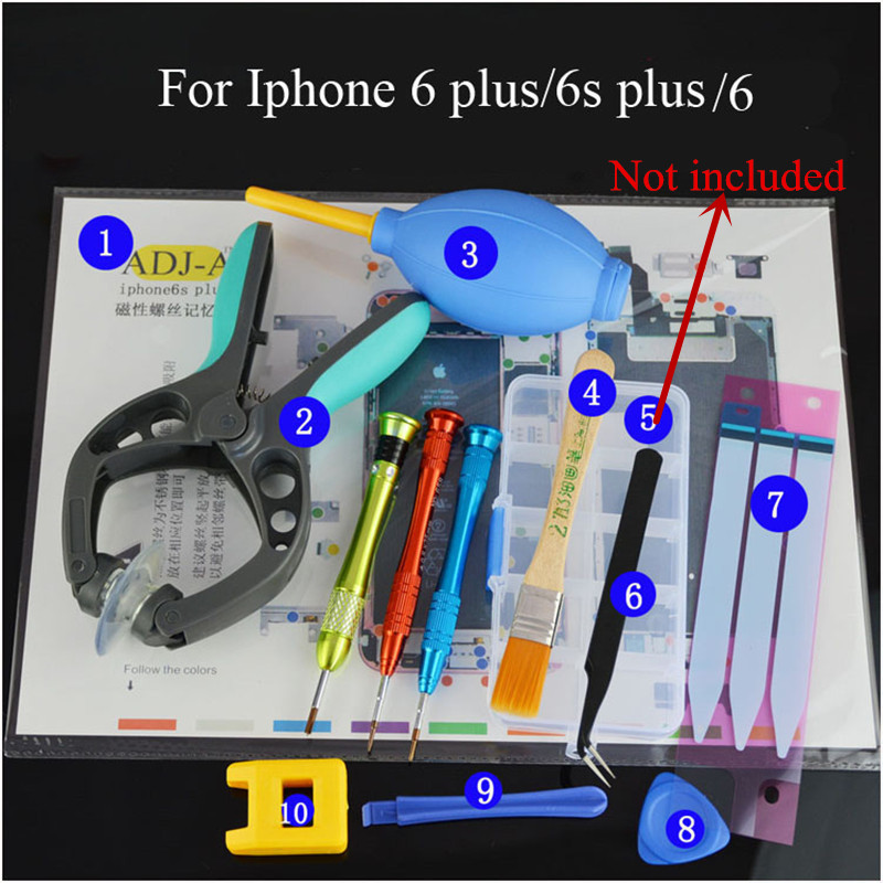 Disassemble Repair Tools For Iphone 7plus/7/6s plus/6s/6plus/6/5s/5 Battery Housing Replace Back Cover Repair Parts For Iphone