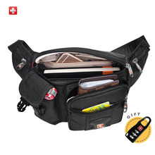 Swisswin Fanny Pack Men Small Waist Bag Male Waterproof Multi-pocket Women Money Pouch Belly Bag For Cellphones(China)