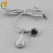 White Cheapest Disposable in-ear Earphone/Headset/Earbuds for Party Museum Bus or Train Plane or school as gift low price 100pcs