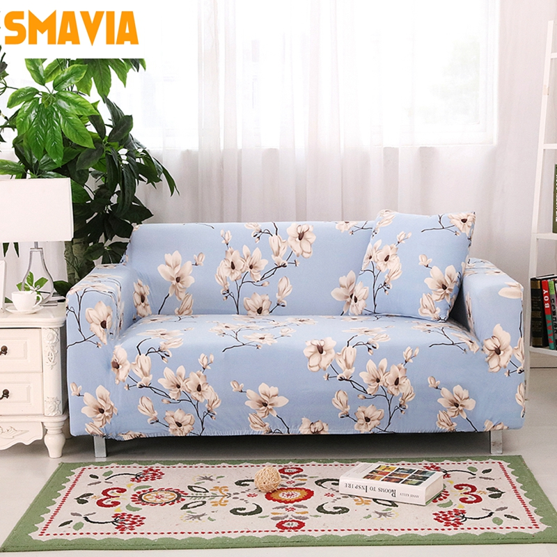 SMAVIA L-shaped Corner Sofa Cover 100% Polyester Stretch Slipcovers Easy Install Big Elasticity Sofa towel 1 pc Home Decoration(China (Mainland))