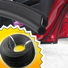 5M 200INCH Universal Flexible Black Car Edge Rubber Seal Strip pillar OEM Washable Hardwearing Weatherstrip Seal Protector#07