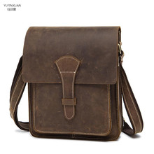 Buy YUPINXUAN Durable Briefcase Men Crazy Horse Leather Messenger Bag Vintage Retro Cow Leather Shoulder Bag Genuine Leather Handbag for $44.87 in AliExpress store