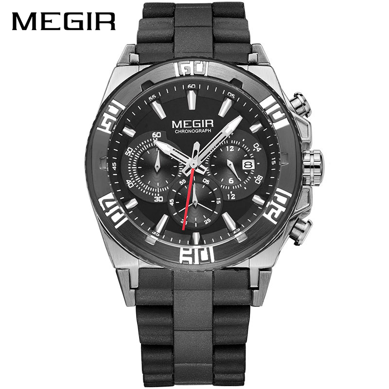 MEGIR Original Men Watch Chronograph Multifunction Military Wristwatch 3D Dial Quartz Watches Men Clock Relojes Hombre<br>