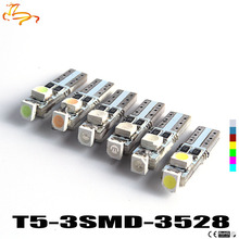 100pcs Hotsale T5 3 LED 3528 SMD 3led 3smd Car Auto Lamp Dashboard Gauge Lights Instrument Warning Indicator Signal Bulbs(China)