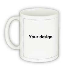11oz Blank Sublimation Mugs Cup Ceramic diy logo Mugs for Heat Press Transfer Printing